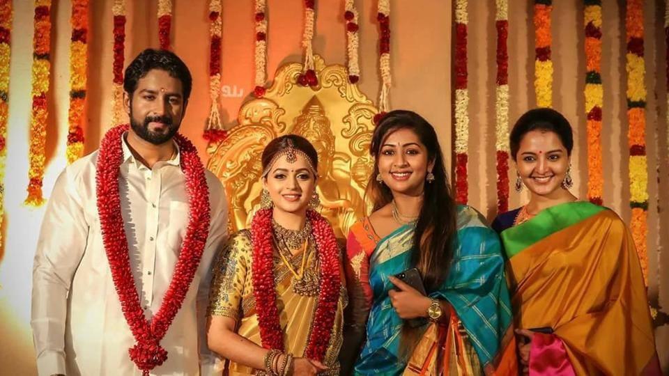 Bhavana Naveens Star Studded Reception See Pics Videos Of