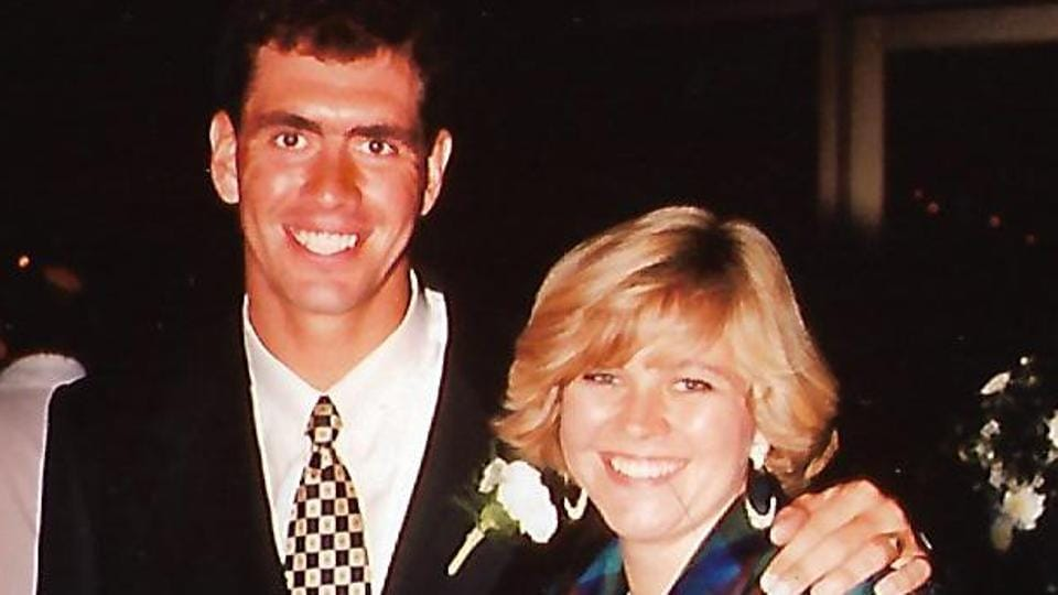 An old image of Hansie Cronje, former South Africa captain, with his sister Hester Parsons. Cronje was banned from cricket for life due to his role in a match-fixing scandal in 2000.