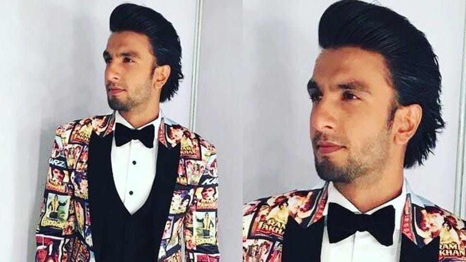 Ranveer Singh in his Bollywood suit that became a  meme on Twitter.