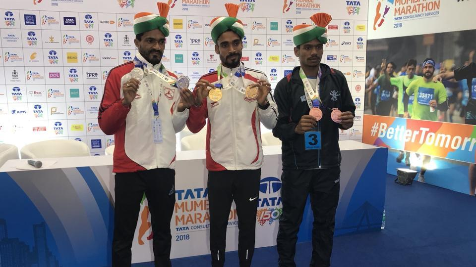 Gopi Thonakal finished Sunday's race in 2:16:51, edging out Nitendra Singh Rawat by just three seconds in what was an evenly-matched contest between the two Olympians