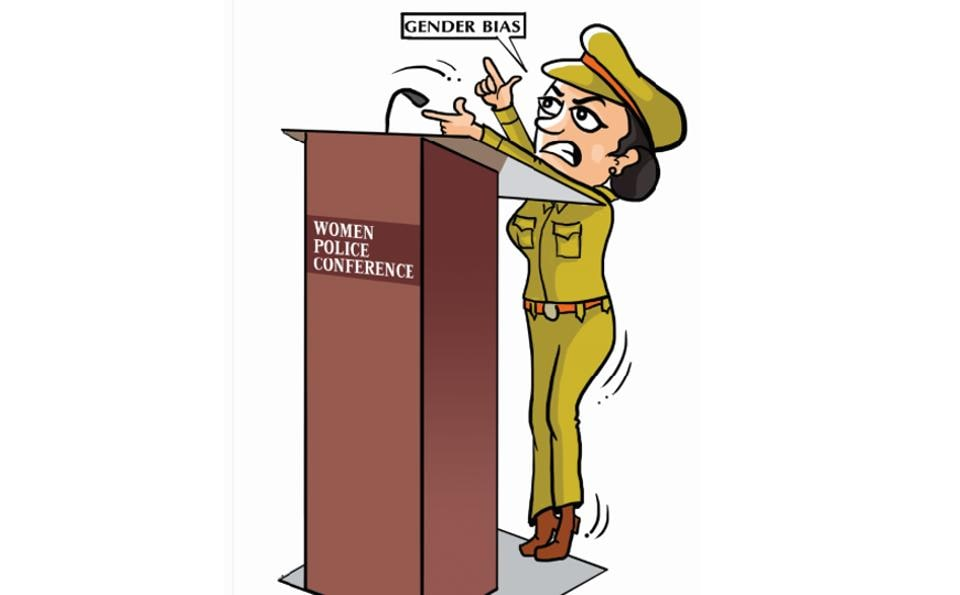 At the Women Police Conference in Ludhiana, Punjab inspector general (personnel and training) Anita Punj saw a gender bias in the size of the podium placed on the stage. A number of women speaker found the podium a tad too high for their comfort.