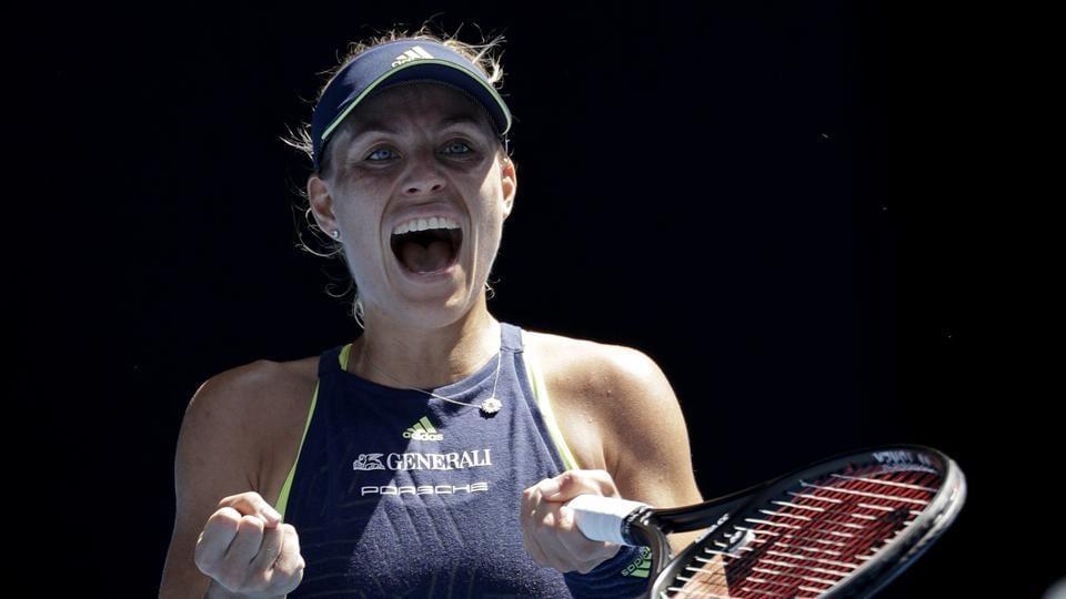 Angelique Kerber defeated Hsieh Su-wei 4-6, 7-5, 6-2 to enter the quarterfinals of the Australian Open tennis tournament.