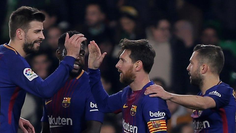 27264a377 Five-star Barcelona extend lead in La Liga