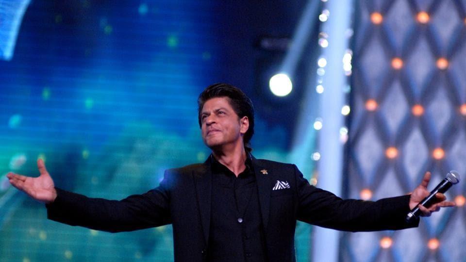 Shah Rukh Khan takes part in the Umang Mumbai Police Show 2018 in Mumbai on January 13, 2018.