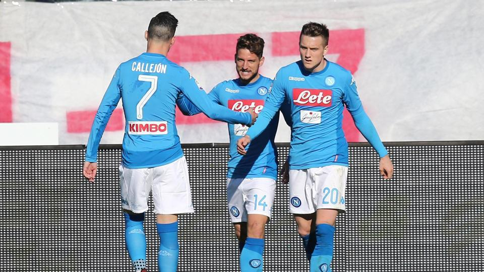 Napoli's Dries Mertens' goal gave his side a 1-0 win over Atalanta and avenged their home Coppa Italia defeat against the same side
