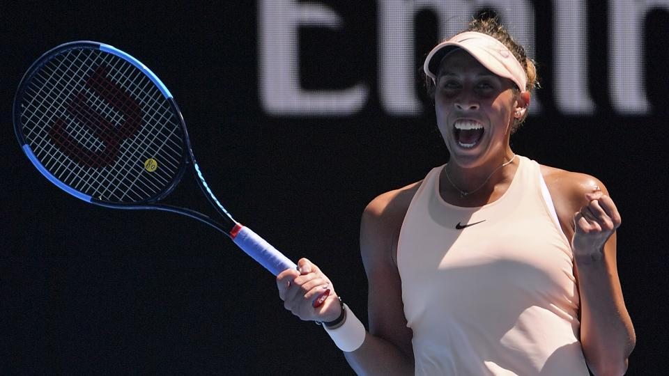 Madison Keys defeated Caroline Garcia 6-3, 6-2 to advance to the quarterfinals of the Australian Open tennis tournament.