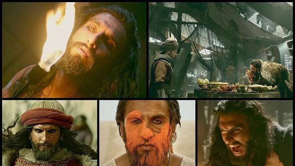 Ranveer Singh shared a collage of images of his character from the upcoming film Padmaavat.