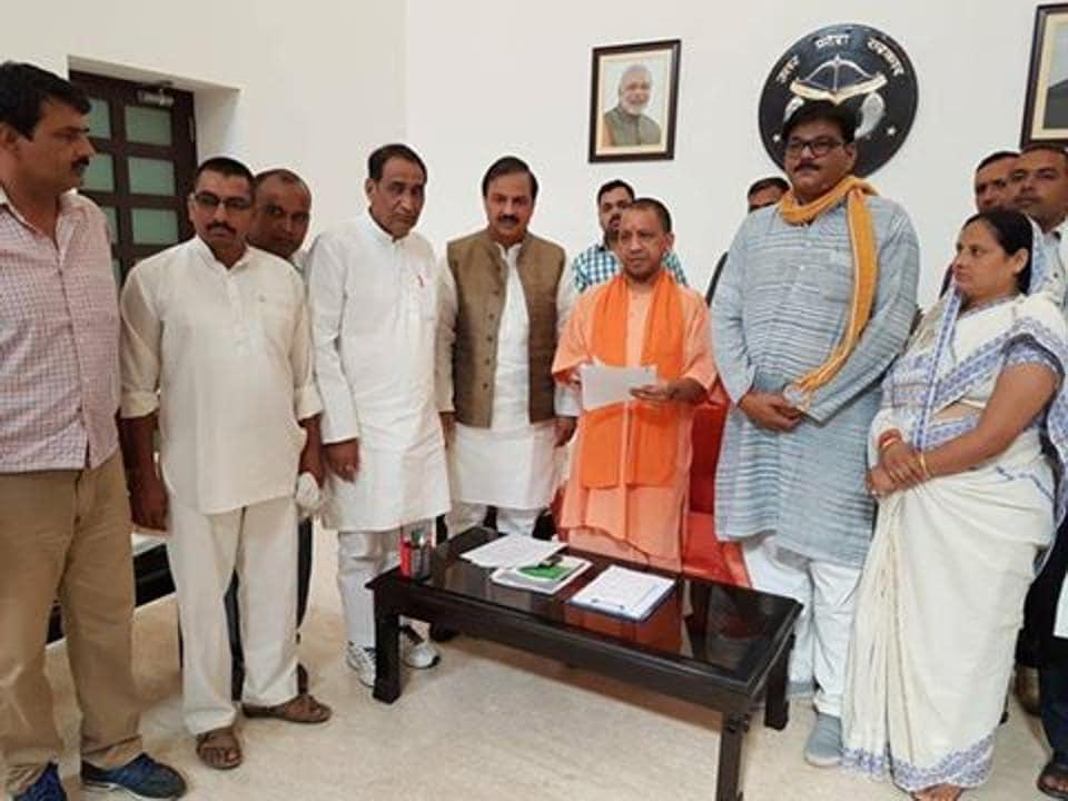 Jewar MLA had taken a delegation of farmers to CM Yogi Adityanath seeking his intervention to drop charges against farmers.