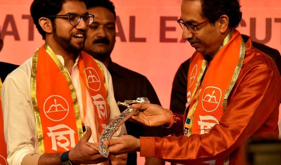 Shiv Sena chief Uddhav Thackeray's son Aaditya was elevated in the party hierarchy on Tuesday at the party's national executive meeting held at the NSCI, Worli.
