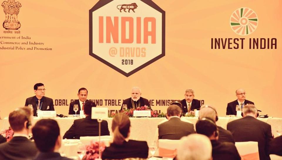 PMModi meets top CEOs in Davos on Tuesday.