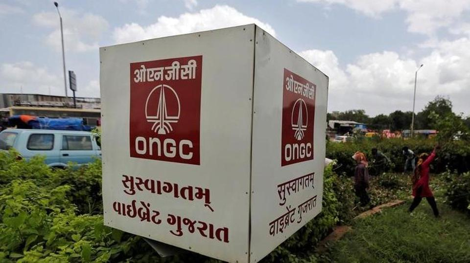 The logo of Oil and Natural Gas Corp's (ONGC) is pictured along a roadside in Ahmedabad, India, September 6, 2016. Picture taken September 6, 2016.