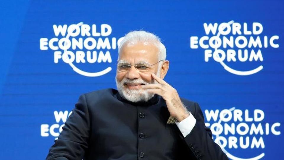 Prime Minister Narendra Modi attends the World Economic Forum (WEF) annual meeting in Davos, Switzerland.