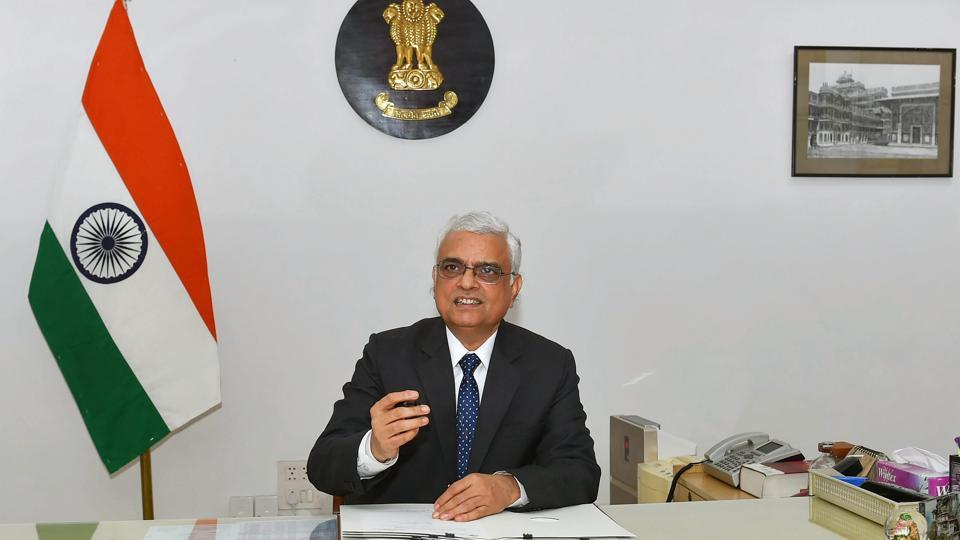 Election commissioner OP Rawat assumed office as the new chief of the poll panel on Tuesday after the government announced his elevation on Sunday. A 1977-batch IAS officer of Madhya Pradesh cadre, Rawat, who joined the Election Commission in August 2015, takes over as the chief election commissioner from Achal Kumar Joti whose term ended yesterday. (Vijay Verma / PTI)