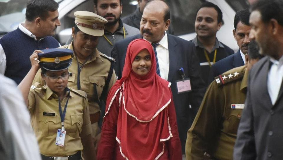 "The Supreme Court said on Thursday the National Investigation Agency cannot probe the legitimacy of Hadiya Jahan's marriage. The bench said marriage has to be separated from criminal action or conspiracy, adding that only Hadiya has the right ""to decide on her choices"". (Vipin Kumar / HT File)"