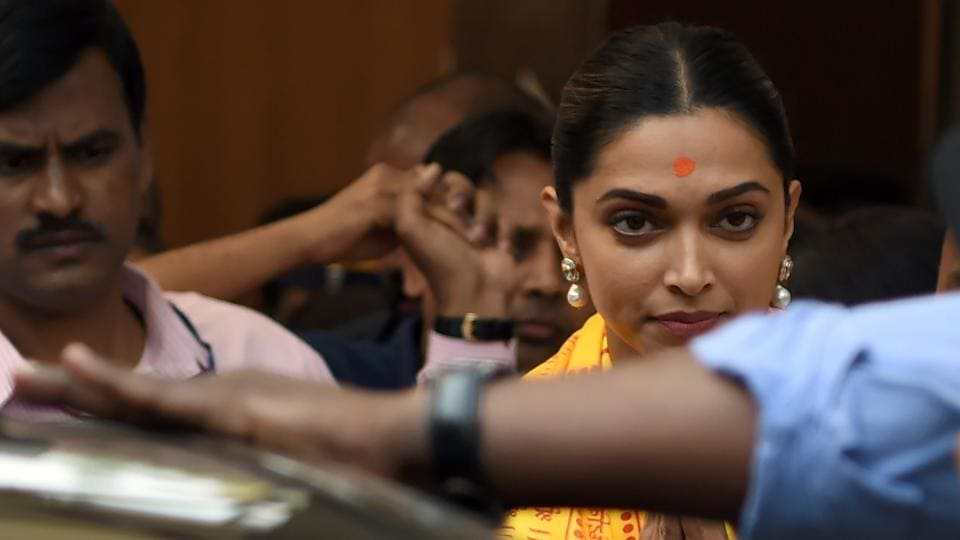 Actor Deepika Padukone visits Siddhivinayak Temple ahead of nationwide release of 'Padmaavat', the film in which she plays the central character.