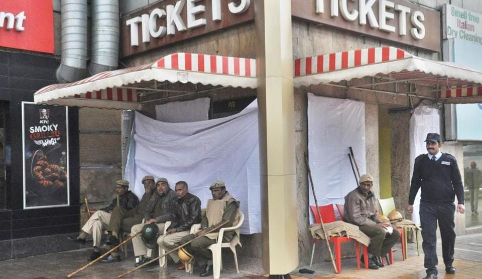 Police force was deployed in large numbers at malls and multiplexes in Gurgaon on Tuesday.