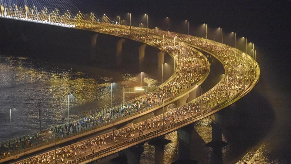 The Mumbai Marathon was held on Sunday.