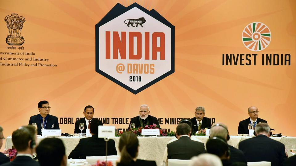 Prime Minister Narendra Modi told top CEOs in Davos on Tuesday that India means business and presents exciting opportunity for global businesses. Addressing a roundtable, Modi narrated India's growth story. Prime Minister Modi also delivered the keynote speech opening the World Economic Forum. (PTI / PIB)