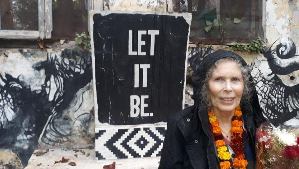 Prudence Farrow at Beatles Ashram on Tuesday.