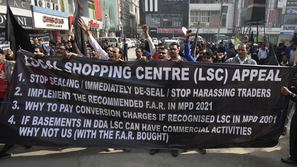 Delhi traders,Traders' bandh,Sealing drive