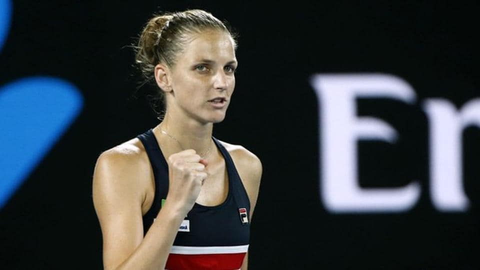 Karolina Pliskova will take on Simona Halep in the quarter-finals of the Australian Open tennis tournament.