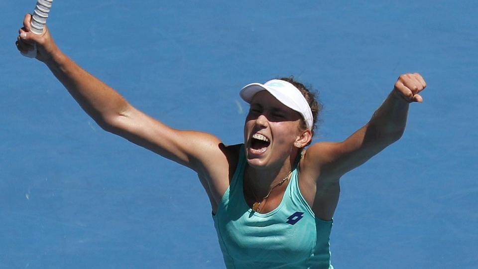 World number 37 Elise Mertens shocked Elina Svitolina in the Australian Open tennis quarter-finals.
