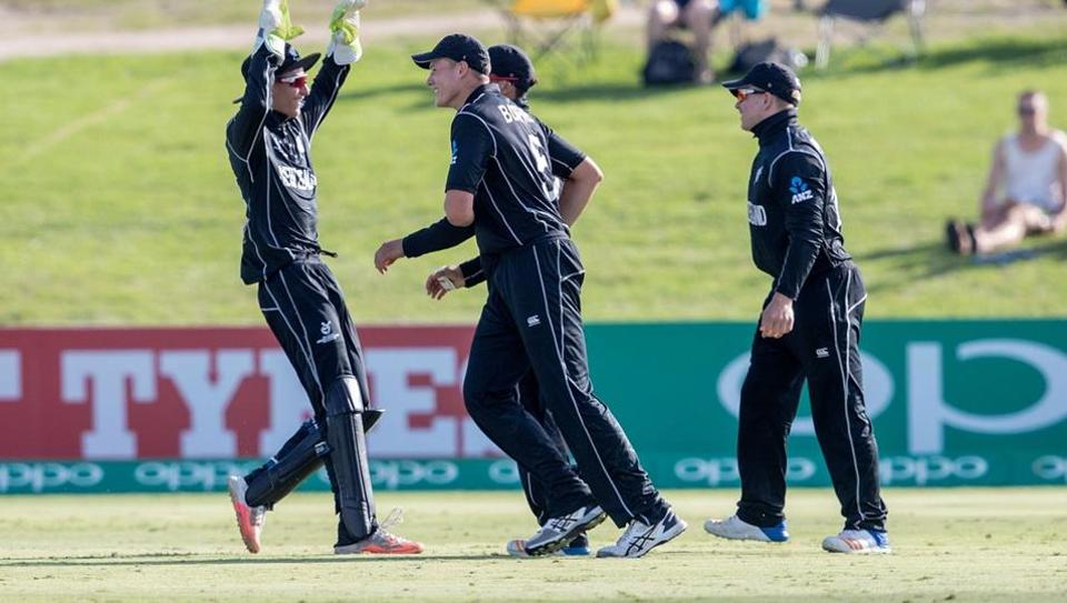 New Zealand were thrashed by 202 runs by Afghanistan in the ICC U-19 cricket World Cup quarterfinal at the Hagley Oval, Christchurch, today. Get full cricket score of New Zealand vs Afghanistan here.