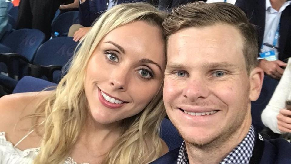 Steve Smith was present at the Australian Open Tennis tournament in Melbourne Park with his fiance Dani Willis.