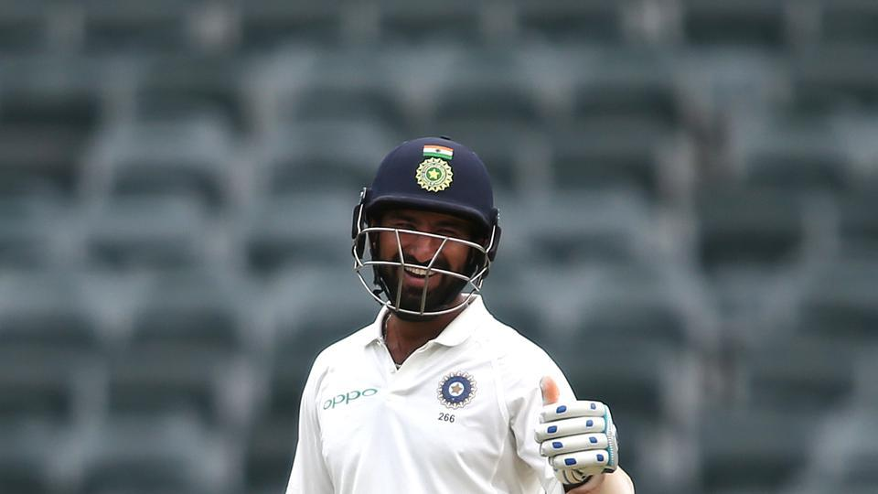 Cheteshwar Pujara supported his captain and withstood the fast bowling barrage.  (BCCI )