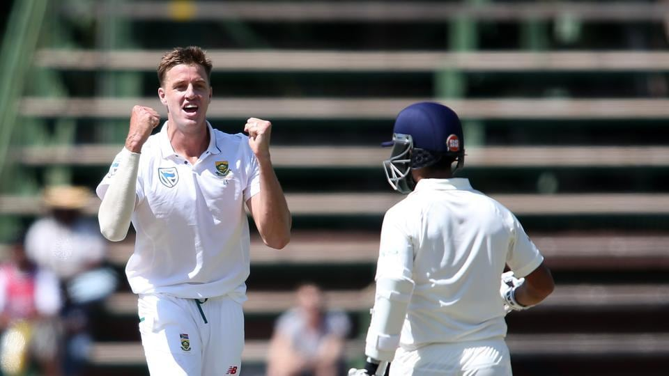 Morne Morkel soon removed Ajinkya Rahane to leave India in all sorts of trouble.  (BCCI )