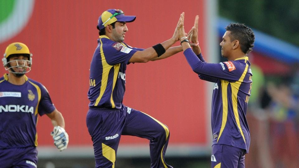Gautam Gambhir (centre), who was picked up by Kolkata Knight Riders in the 2011 Indian Premier League (IPL) auction, led the side to two titles.
