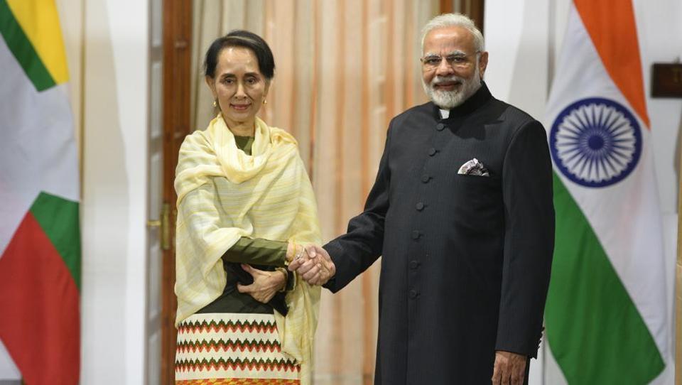 Narendra Modi,ASEAN,Aung San Suu Kyi