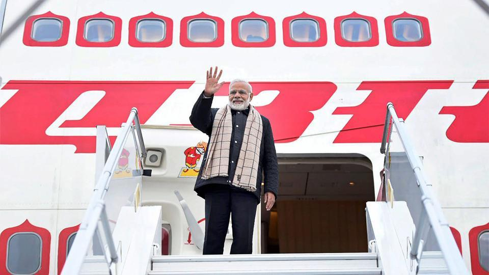 Prime Minister Narendra Modi leaves for India after attending the World Economic Forum Summit in Davos, on Wednesday.