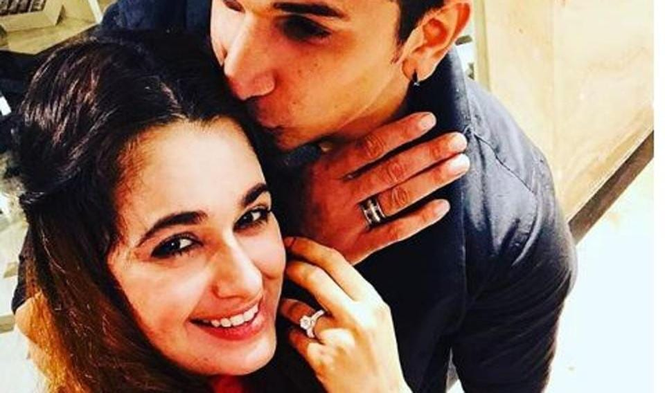 Prince Narula and Yuvika Choudhary flaunt their rings after getting engaged.