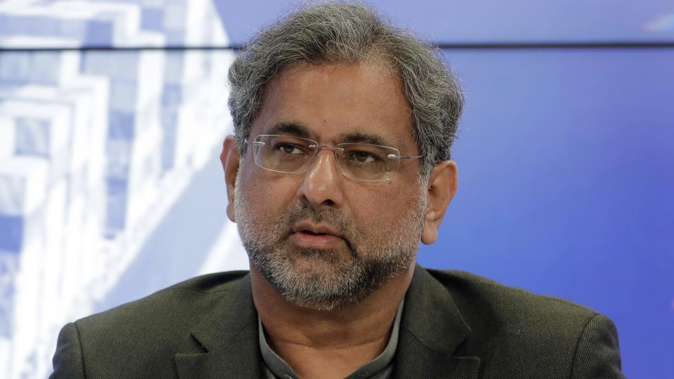 Shahid Khaqan Abbasi, Prime Minister of Pakistan, attends a panel during the annual meeting of the World Economic Forum in Davos, Switzerland, Wednesday, Jan. 24, 2018.