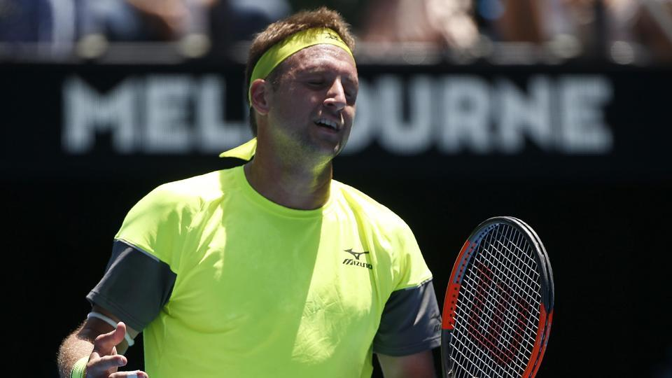 Tennys Sandgren lost his quarterfinal match against Chung Hyeon of South Korea in the Australian Open on Wednesday.