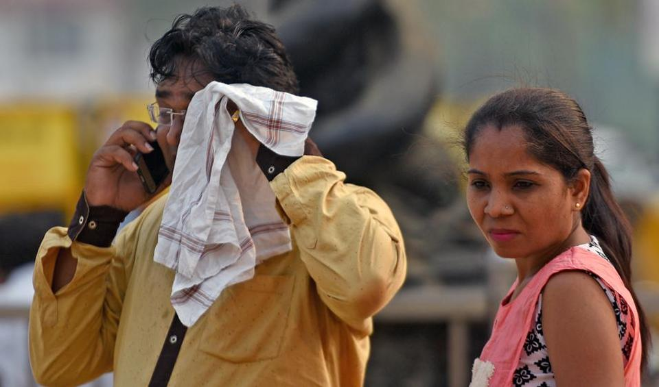Day temperature in the suburbs and south Mumbai fell by almost two degrees Celsius below normal on Tuesday