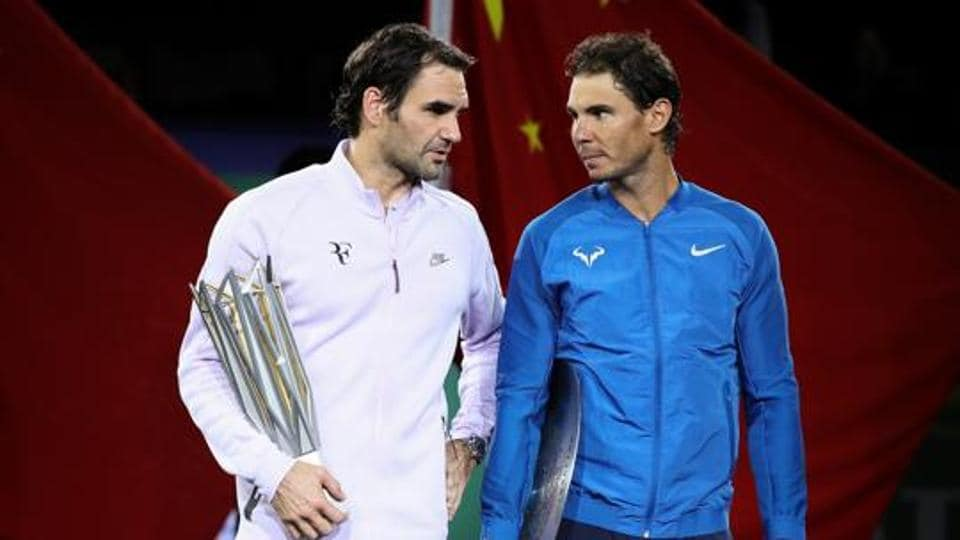 Roger Federer (L) and Rafael Nadal have developed a close friendship over the years despite their rivalry on the court.