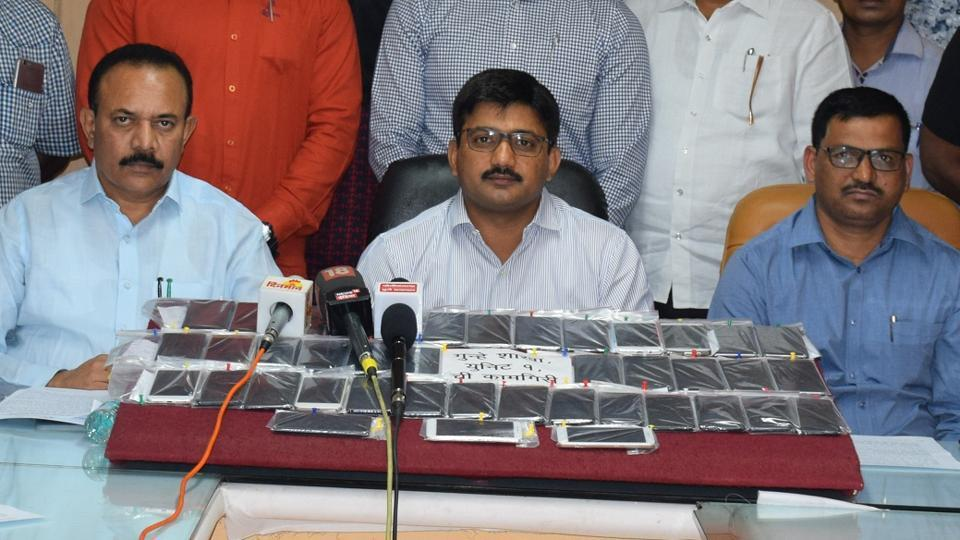 The police recovered a total of 45 mobile phones, collectively worth ₹10,38,000.