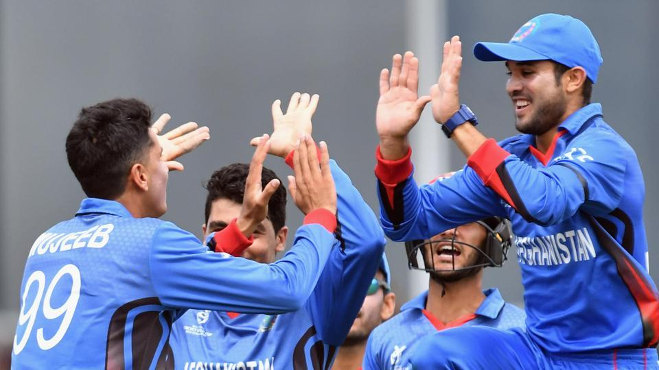 Afghanistan entered the semi-final of the ICC U-19 Cricket World Cup for the first time, beating the New Zealand U-19 cricket team by 202 runs. (ICC-Getty Images)