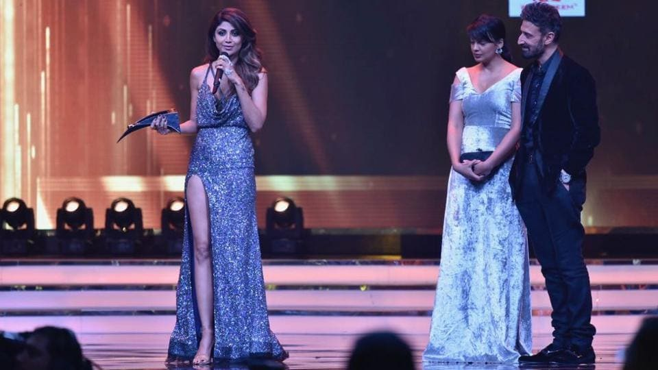 "Shilpa Shetty was given the Most Stylish Author award. ""Style is having to express much without saying anything,"" she said in her acceptance speech. (ht photo)"