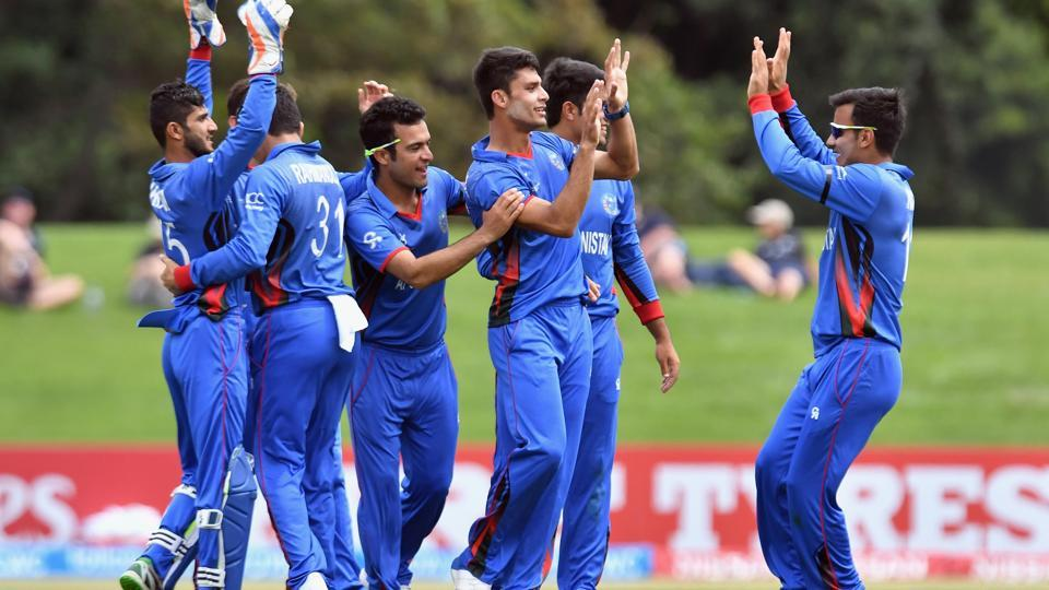 Mujeeb and legspinner Qais Ahmed took eight wickets between them as Afghanistan knocked the hosts out of the tournament.  (ICC-Getty Images)