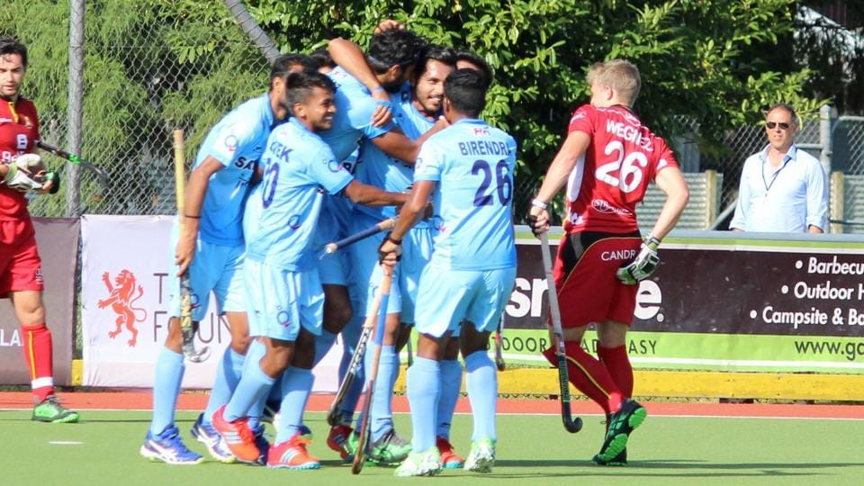 Dilpreet Singh scored in the 59th minute as India defeated Belgium in a manic Four Nations Hockey tournament match in New Zealand.