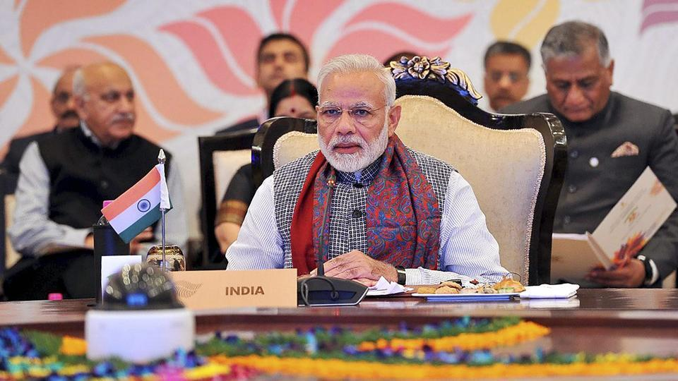 Prime Minister Narendra Modi delivers his opening remarks at the ASEAN India Commemorative Summit, in New Delhi on Thursday.