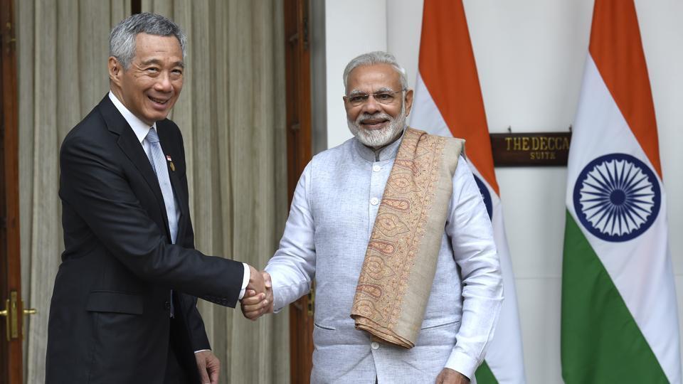 Narendra Modi,ASEAN,India-Singapore ties