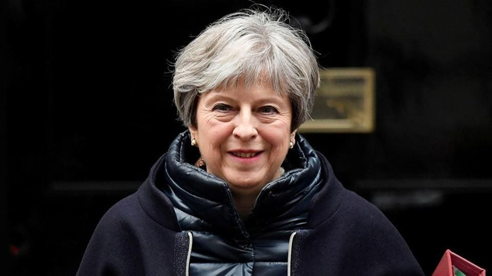 Britain's Prime Minister Theresa May leaves 10 Downing Street, London, on January 24, 2018.