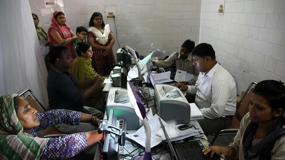An Aadhaar camp at Dhaka Village, New Delhi