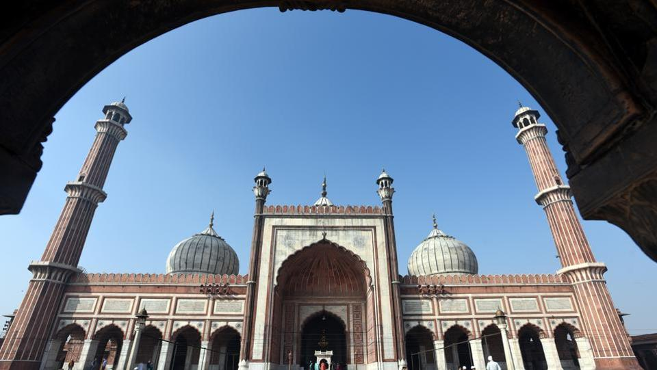 The Archaeological Survey of India has begun repairs on the central dome of the Jama Masjid in Old Delhi. A team from the ASI has started preparing the traditional lime mortar that was used during the Mughal period. The work to fill up the dome's cracks is scheduled to begin in the third week of February, officials said. (Sonu Mehta / HT File)