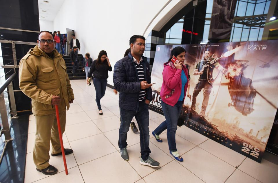 Not many cinema enthusiasts turned up for the movie at multiplexes in Noida.