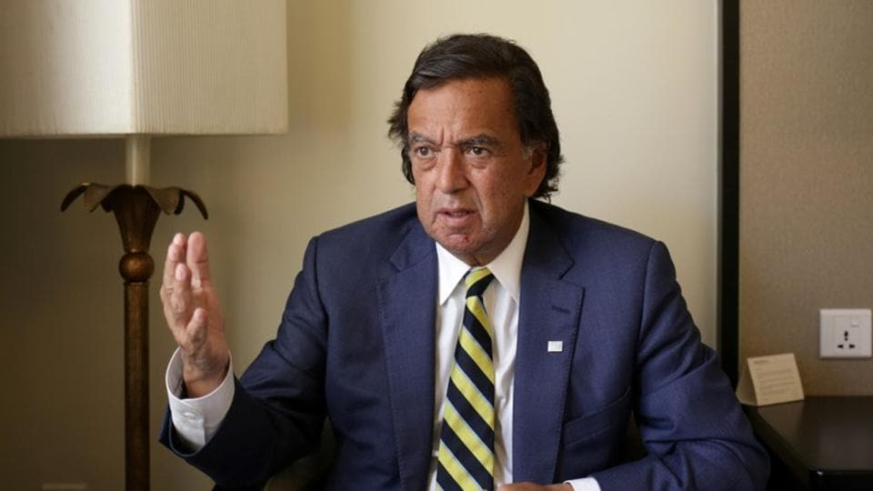 Former New Mexico governor Bill Richardson speaks during an interview with Reuters as a member of an international advisory board on the crisis of Rakhine state in Yangon, Myanmar on January 24.